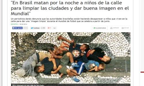 Bambini uccisi per i Mondiali_Bufala