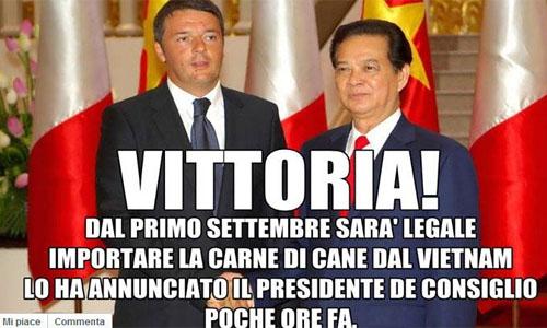 Carne di cane_commestibile_Italia Bufala_Renzi