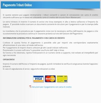 Pagamento tributi online