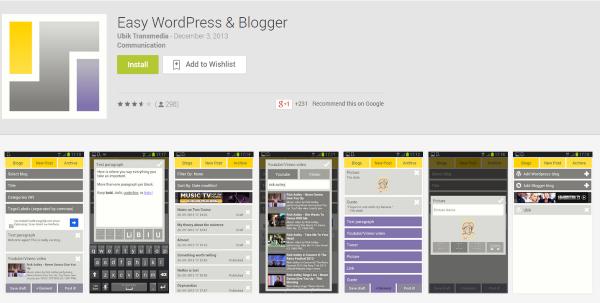 easy wordpress e blogger