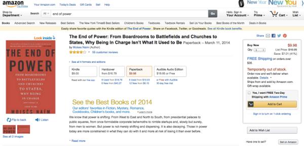 Amazon segnala il tutto esaurito per il primo libro consigliato da Zuckerberg